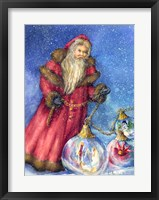 Framed Old Santa with Gifts