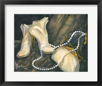 Framed Shoes and Necklace