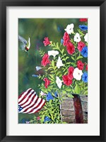 Framed Garden Glory Hummingbird