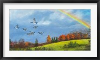 Framed October Rainbow