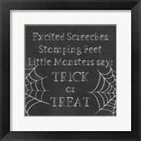 Framed Spooky Chalkboard I
