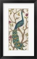 Peacock Fresco I Framed Print