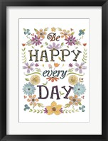 Happy Sentiments II Framed Print