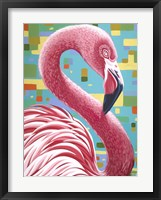 Fabulous Flamingos I Framed Print