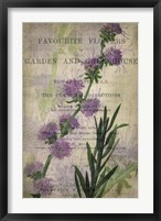 Favorite Flowers I Framed Print