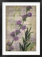 Favorite Flowers I Framed Print
