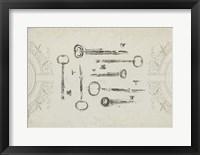 Keepsake Keys I Framed Print