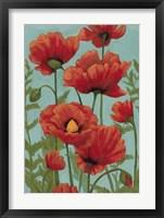 Poppy Promenade II Framed Print