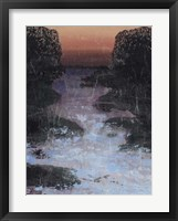 Twilight Canal I Framed Print