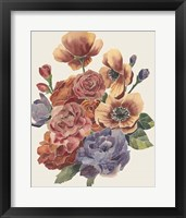 Stained Glass Posy II Framed Print