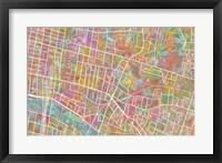 Framed Glasgow Street Map 1