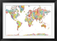World Map 1 Framed Print