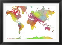 World Map 6 Framed Print