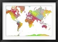 Framed World Map 6