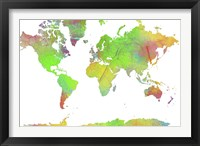 World Map 7 Framed Print