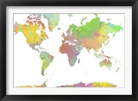 World Map 8 Framed Print