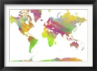 World Map 9 Framed Print