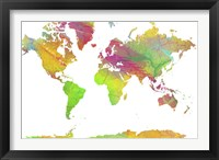 World Map 10 Framed Print