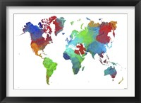 Framed World Map 16