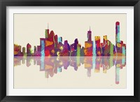 Brisbane Qld Skyline 1 Framed Print