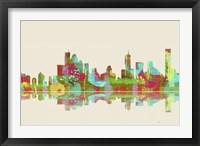 Brisbane Qld Skyline 2 Framed Print