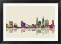 Perth WA Skyline 1 Framed Print