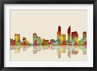 Perth WA Skyline 2 Framed Print