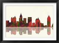 Atlanta Georgia Skyline 1 Framed Print