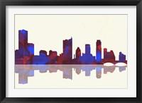 Framed Austin Texas Skyline 1