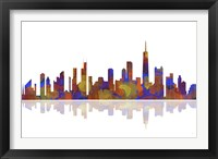 Chicago Illinois Skyline 2 Framed Print
