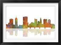 Framed Columbus Ohio Skyline 1