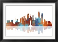 New York New York Skyline 1 Framed Print