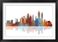 New York New York Skyline 2 Framed Print
