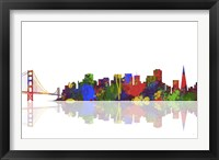 Framed San Francisco California Skyline 1