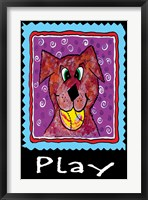 Framed Play Dog