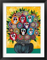 Framed Sugar Skull Bouquet