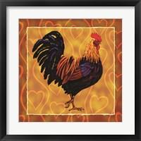 Framed Rooster 1