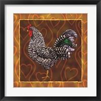 Framed Rooster 3