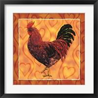 Framed Rooster 4