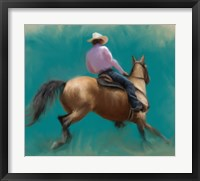 Framed Barrel Racer