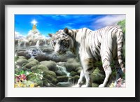 Framed White Tiger