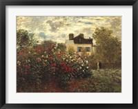Framed Artist's Garden in Argenteuil
