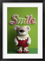 Framed Bear Red Bathingsuit Smile