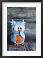 Framed Owl Blue Ooops