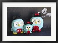Framed Owl Family Mickey Vacation