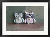 Owl Quilled Boy And Girl Framed Print