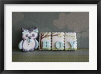 Owl Quilled Boy Framed Print