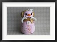 Snowgirl Tickled Pink Framed Print