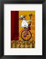 Chef in France Framed Print