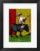Chef in Spain Framed Print